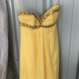 Cache yellow formal gown